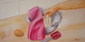 La pâte, acrylique sur toile, 60x30 - VENDU