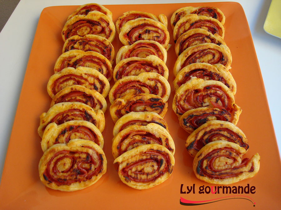 roules jambon - tomate