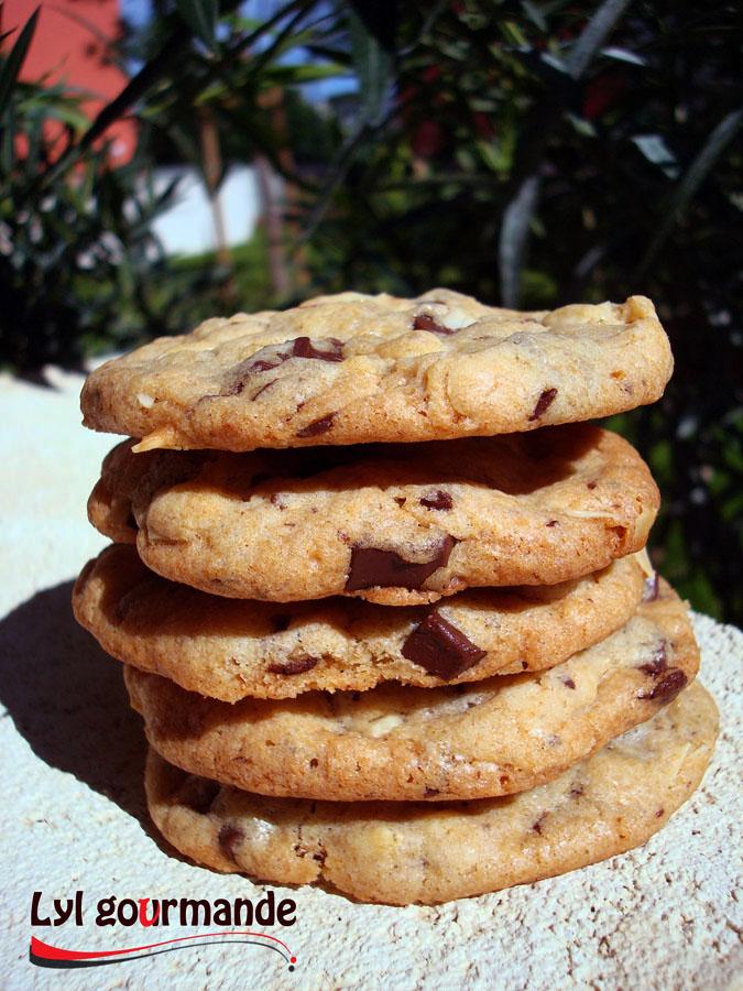 Cookies aux amandes et chocolat noir