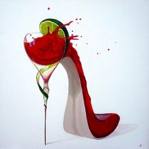 Chaussure1, acrylique sur toile, 50x50 - VENDU