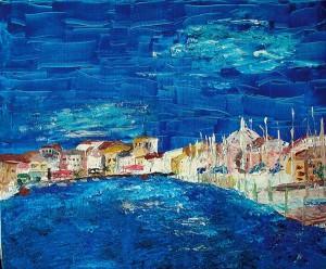 Mèze, acrylique sur toile, 55x46 cm