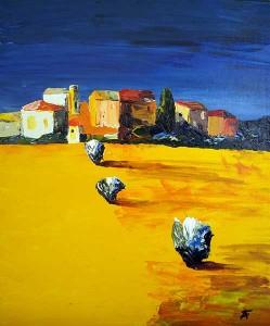 Provence, huile sur toile