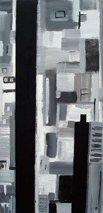 Ville moderne, acrylique sur toile