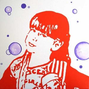 kim,acrylique sur toile - VENDU