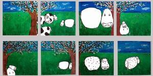 La vache sans tache, dessin sur canson - NON DISPONIBLE